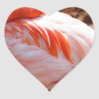 Flamingo Hjärtformat Klistermärke