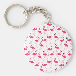 Flamingo Rund Nyckelring