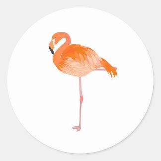flamingo runt klistermärke