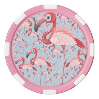 Flamingo Set Av Poker Chips