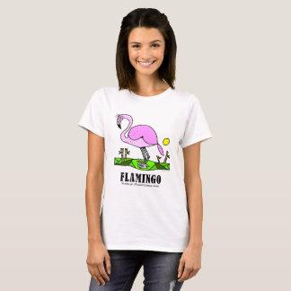 Flamingo vid Lorenzo kvinna T-tröja T Shirts