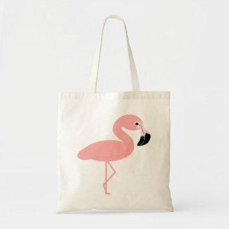 Flamingoen hänger lös tygkasse