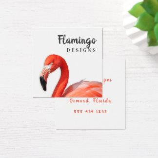Flamingoen kvadrerar moderna dubbla sidvisitkortar fyrkantigt visitkort