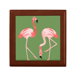 Flamingofåglar Smyckeskrin