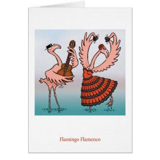Flamingoflamencokort Hälsningskort