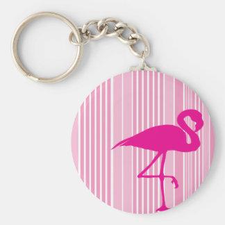 Flamingokärlek Rund Nyckelring