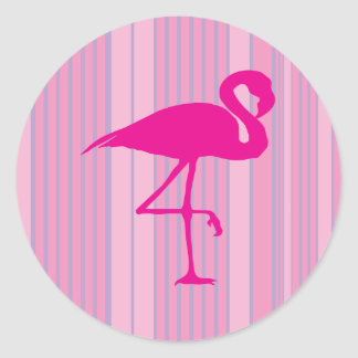 Flamingokärlek Runt Klistermärke