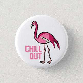 Flamingokyla ut mini knapp rund 3.2 cm