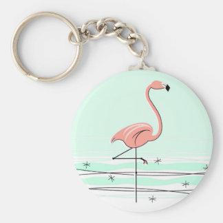 Flamingonyckelringgrönt Rund Nyckelring