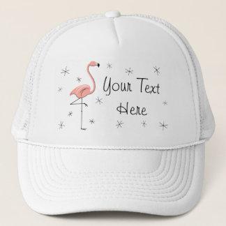 """Flamingorosa truckerkeps för text"""""""