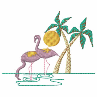 Flamingos broderade skjortan