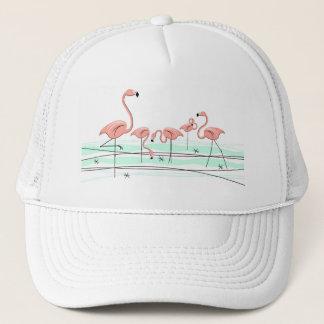 Flamingosgrupptruckerkeps Keps
