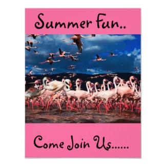 Flamingostil 10,8 X 14 Cm Inbjudningskort