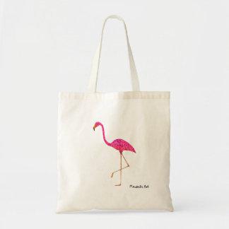 Flamingototot hänger lös tygkasse