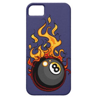 Flamma åtta bollbiljard ringer jag fodral 5 iPhone 5 skydd