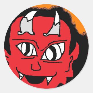 flamma djävulen runt klistermärke