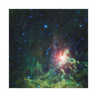 Flamma eller förrymd stjärna canvastryck