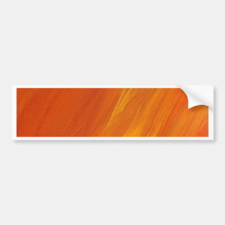 Flamma orangen som gula guld- Firethrower flammar Bildekal