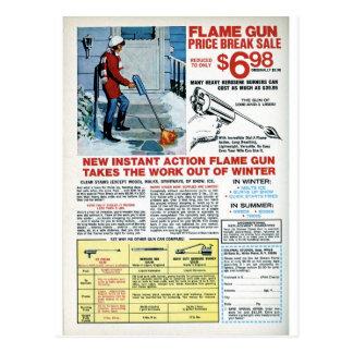 Flamma vapnet för vinter vykort