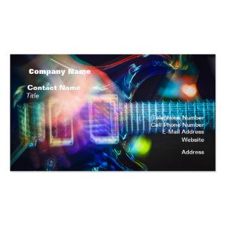 Flammande elektrisk gitarr set av standard visitkort