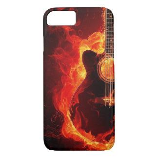 Flammande gitarr