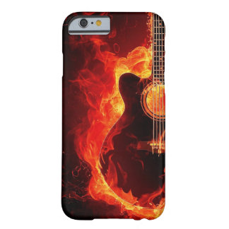 Flammande gitarr barely there iPhone 6 skal