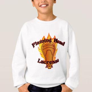 Flammande Head Lacrosse T Shirt