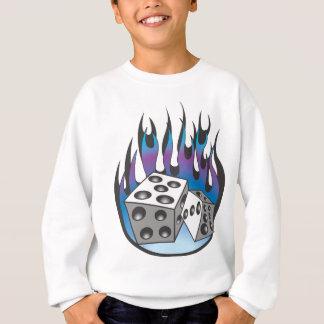 Flammande tärning för isig t shirts