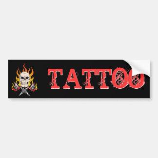 Flammande tatuering för skalle 318 bildekal