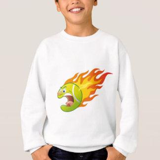 Flammande tennisboll tshirts