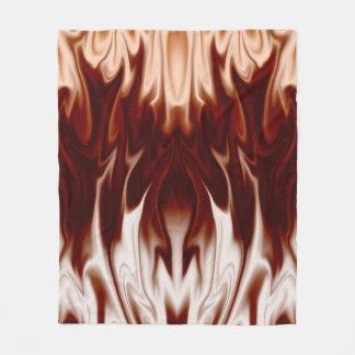 Flammar i brunt fleecefilt