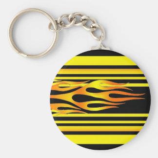 Flammar   Keychain Rund Nyckelring