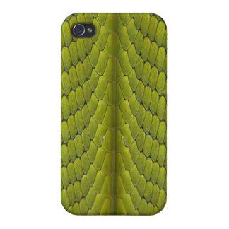 Flår den gröna pytonormen för smaragden trycket iPhone 4 hud