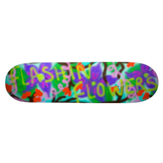 Flashin blommar grafitti mini skateboard bräda 18,7 cm