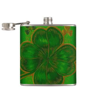 Flaska för krypande för Pub för Shamrockst patrick Fickplunta