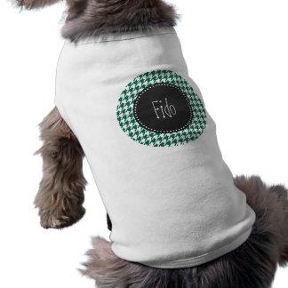 Flaska gröna Houndstooth; Retro svart tavla Hund T-shirts