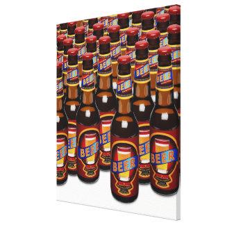 Flaskor av ölsidan - by - sida (den Digital Canvastryck