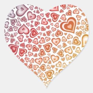 Flätad samman hjärtadesign hjärtformat klistermärke