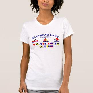 Flathead sjöMT signalerar flaggor T-shirts