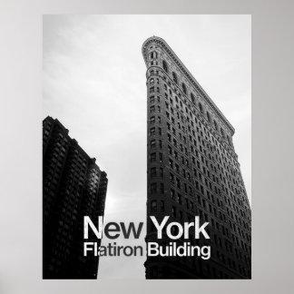 Flatiron byggnad i New York Poster