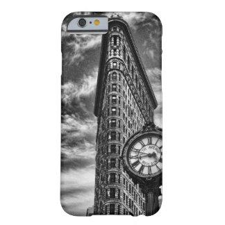 Flatiron byggnad och tar tid på i svartvit 1C2 Barely There iPhone 6 Fodral
