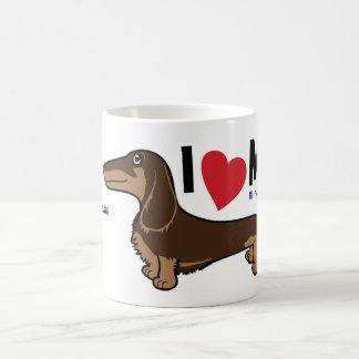 """FLDR """"älskar jag min"""" LH Choc/solbränd Doxie Kaffemugg"""
