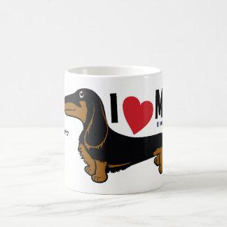 """FLDR """"älskar jag min"""" LH-svart/solbrända Doxie Kaffemugg"""