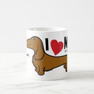 """FLDR """"älskar jag min"""" röda Doxie teckenMug. för LH Kaffemugg"""