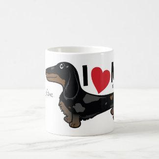 """FLDR """"som jag älskar min"""" LH, Dapple den Doxie Kaffemugg"""
