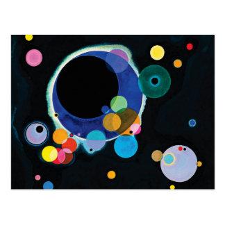 Flera cirklar vid Wassily Kandinsky Vykort