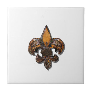 Fleur De Lis Flor lantliga New Orleans Kakelplatta