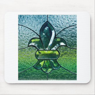Fleur De Lis Flor New Orleans grön gnistra Musmattor