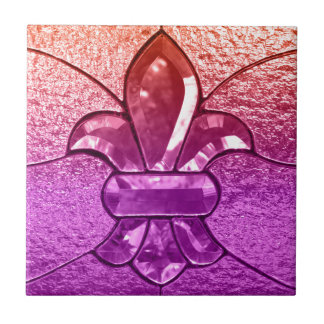 Fleur De Lis Flor New Orleans juvelexponeringsglas Kakelplatta