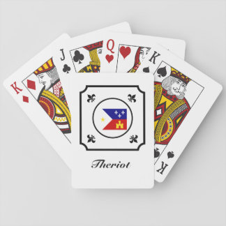 Fleur-de-Lis för flagga för Cajun flagga Acadian Casinokort